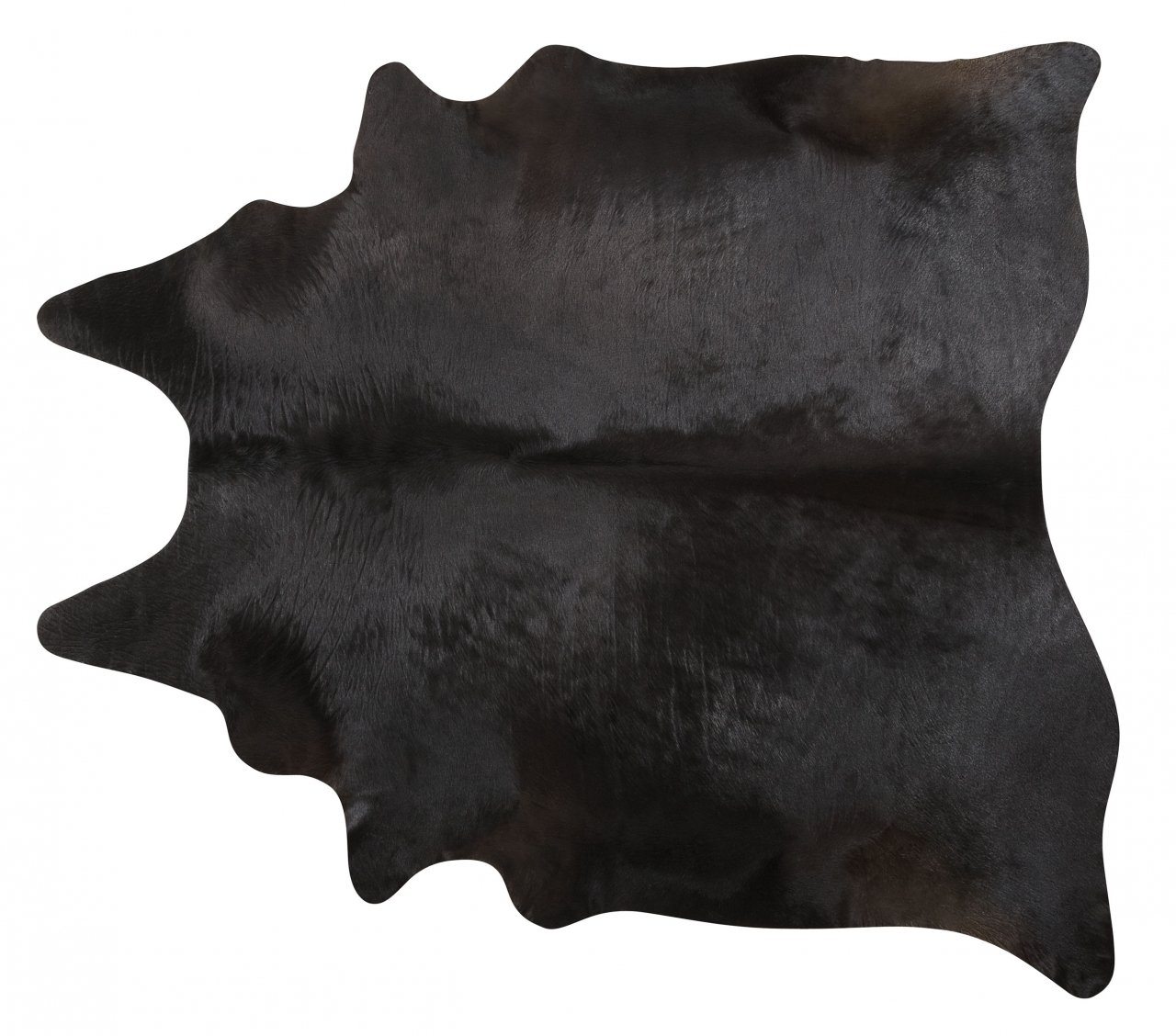 Black Brazilian Cowhide Rug Cow Hide Area Rugs Skin Leather Size XL
