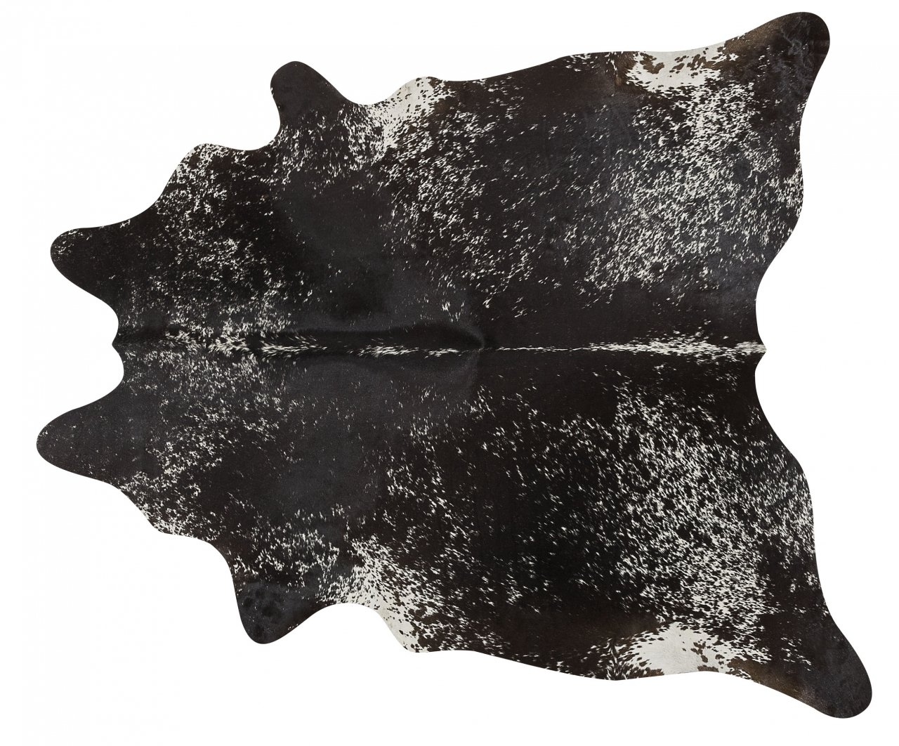 Black Salt and Pepper Brazilian Cowhide Rug Cow Hide Area Rugs - Size XL