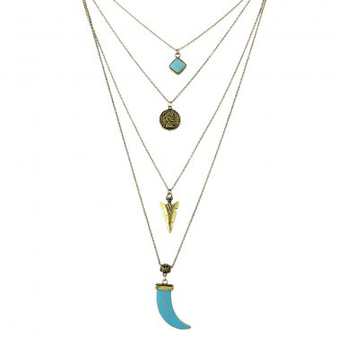 Multi Layered Bohemian Necklace - Gold