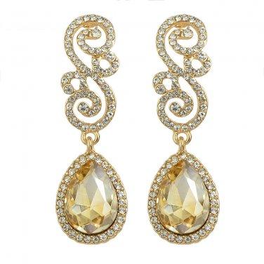 Chandelier Earrings - Drop & Dangle Earrings - Filigree Earrings - Gold