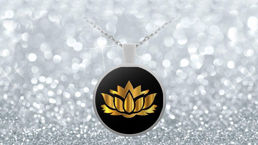 Golden Lotus Flower - Necklace