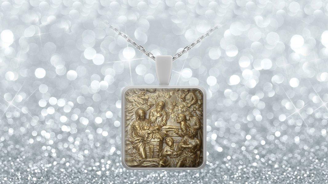 Nativity - Square Pendant Necklace