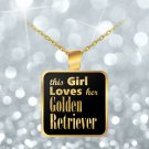 Golden Retriever - Gold Plated Necklace - Dog Gifts For Women - Dog Lovers