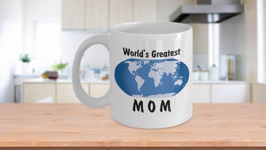 World's Greatest Mom - 11oz Mug - White Ceramic Novelty Coffee / Tea Cup / Mug