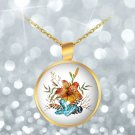 Tiger Lily Bouquet - Gold Plated Necklace