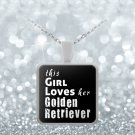 Golden Retriever - Necklace - Dog Gifts For Women - Gifts for Dog Lovers