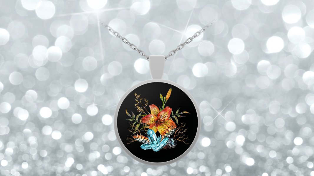 Tiger Lily Bouquet - Necklace v2
