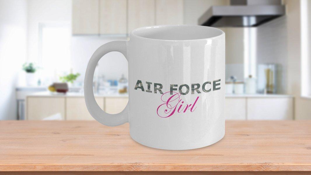 Air Force Girl - 11oz Mug - White Ceramic Novelty Coffee / Tea Cup / Mug