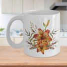 Tiger Lily Bouquet v2 - 11oz Mug - White Ceramic Novelty Coffee / Tea Cup / Mug