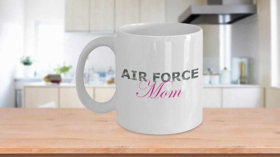 Air Force Mom - 11oz Mug - White Ceramic Novelty Coffee / Tea Cup / Mug