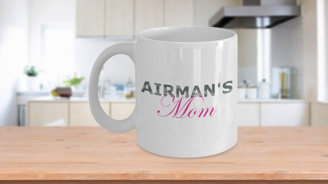 Airman's Mom - 11oz Mug - White Ceramic Novelty Coffee / Tea Cup / Mug
