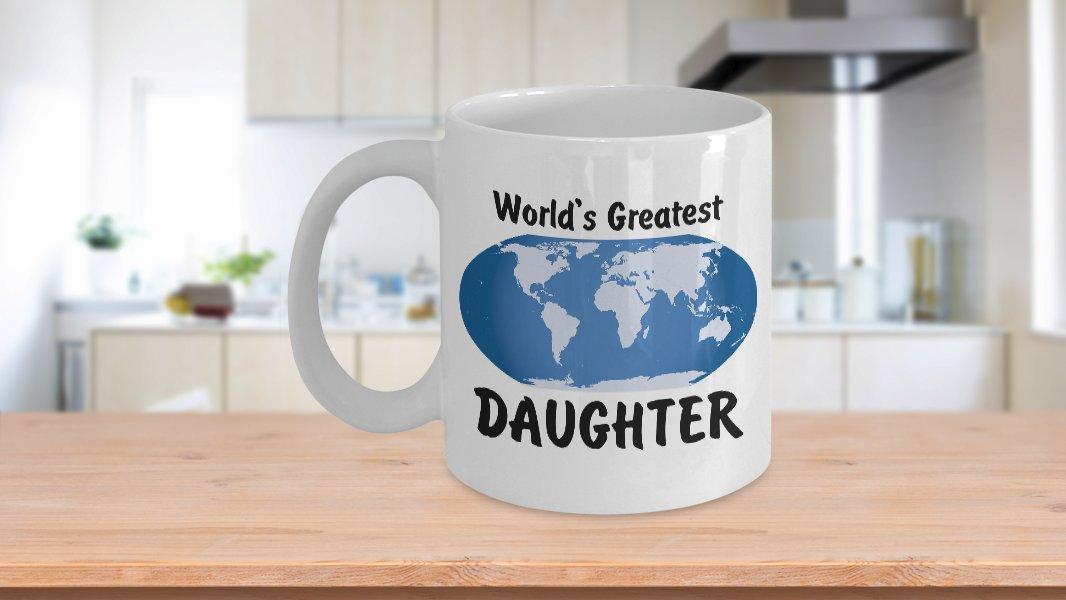 World's Greatest Daughter - 11oz Mug - White Ceramic Novelty Coffee/Tea Cup/Mug