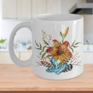 Tiger Lily Bouquet - 11oz Mug - White Ceramic Novelty Coffee / Tea Cup / Mug