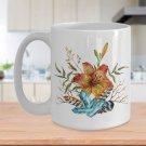 Tiger Lily Bouquet - 15oz Mug - White Ceramic Novelty Coffee / Tea Cup / Mug