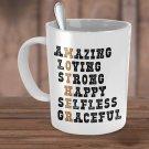 Mother Coffee/Tea Cup/Mug 11oz White Ceramic Perfect Gift For Mom: Mother - Mug