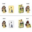 4Pcs/lot Ghostbuster Minifigures Building Blocks Figures Model Bricks Toys