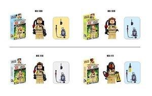 4Pcs/lot Ghostbuster Minifigures Building Blocks Figures Model Bricks Toys