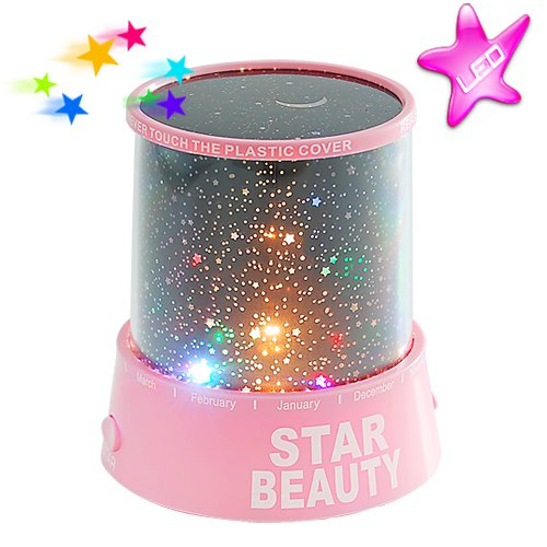 Starry Night Sky Projector with RGB Color Changing LED's - Bedroom Light