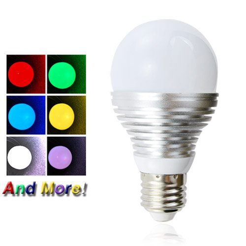 LED Color Changing Light Bulb - 16 Color Diffused LED Lamp with Remote
