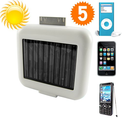 Solar Battery Charger for iPhones, iPods & USB Devices - Portable and High Capacity solar battery