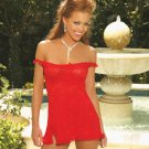 WHIMSICAL STRETCH LACE BABY DOLL SIZE MEDUIM 34-37)