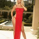 WOW!  STRETCH LACE GOWN & G-STRING SIZE (LARGE 37-40)