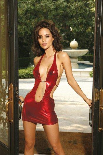SEXY LAME HALTER MINI DRESS