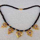 Traditional Women Gold Plated Ethnic Kanthi Mangalsutra Set Indian Jewelry Set
