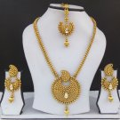 South Indian Traditional Ranihar Gold plated Necklace Earrings Long Jewelry set