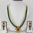 Indian Ethnic Bollywood Gold Plated Fashion Jewelry Long Necklace Earrings Set