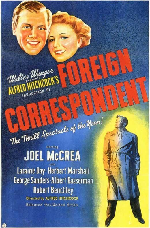 Foreign Correspondent (1940) - Alfred Hitchcock DVD