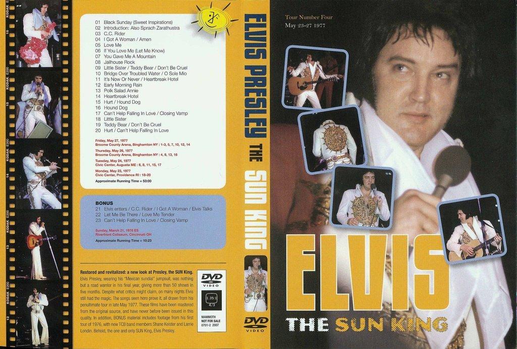 Elvis - The Sun King - Live On Tour 1977 + BONUS DVD