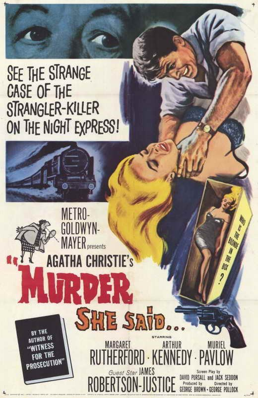 Miss Marple : Murder She Said (1961) - Margaret Rutherford DVD