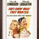 They Knew What They Wanted (1940) - Charles Laughton DVD