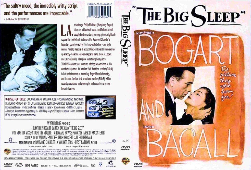 The Big Sleep (1946) - Humphrey Bogart  Color Version DVD