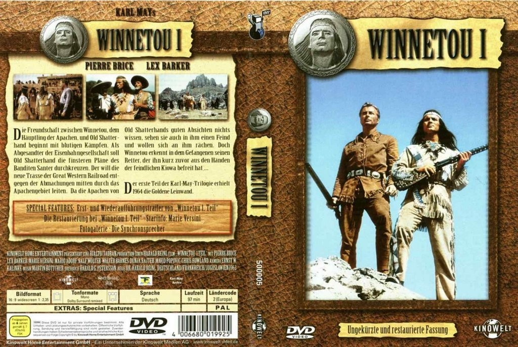 Winnetou 1 (1963) - Lex Barker DVD (english version)