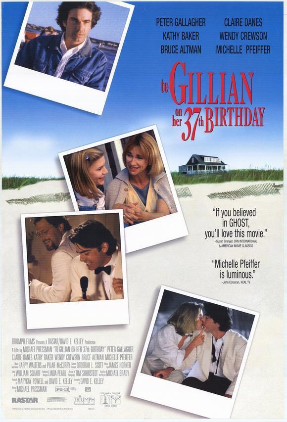 To Gillian On Her 37th Birthday (1996) - Michelle Pfeiffer DVD