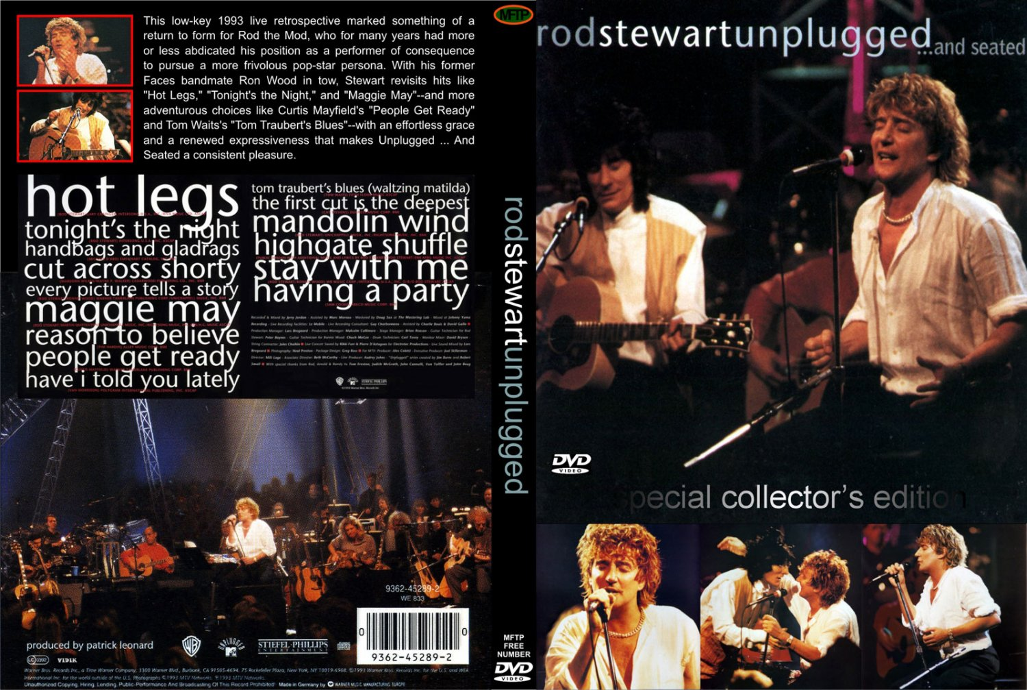 Rod Stewart - MTV Unplugged And Seated (1993)  DVD