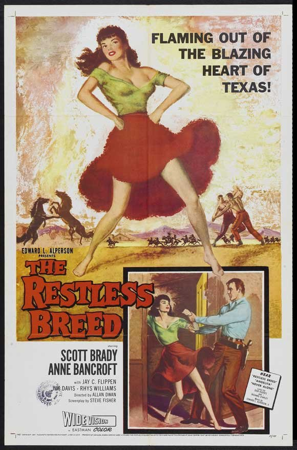 The Restless Breed (1957) - Anne Bancroft  DVD