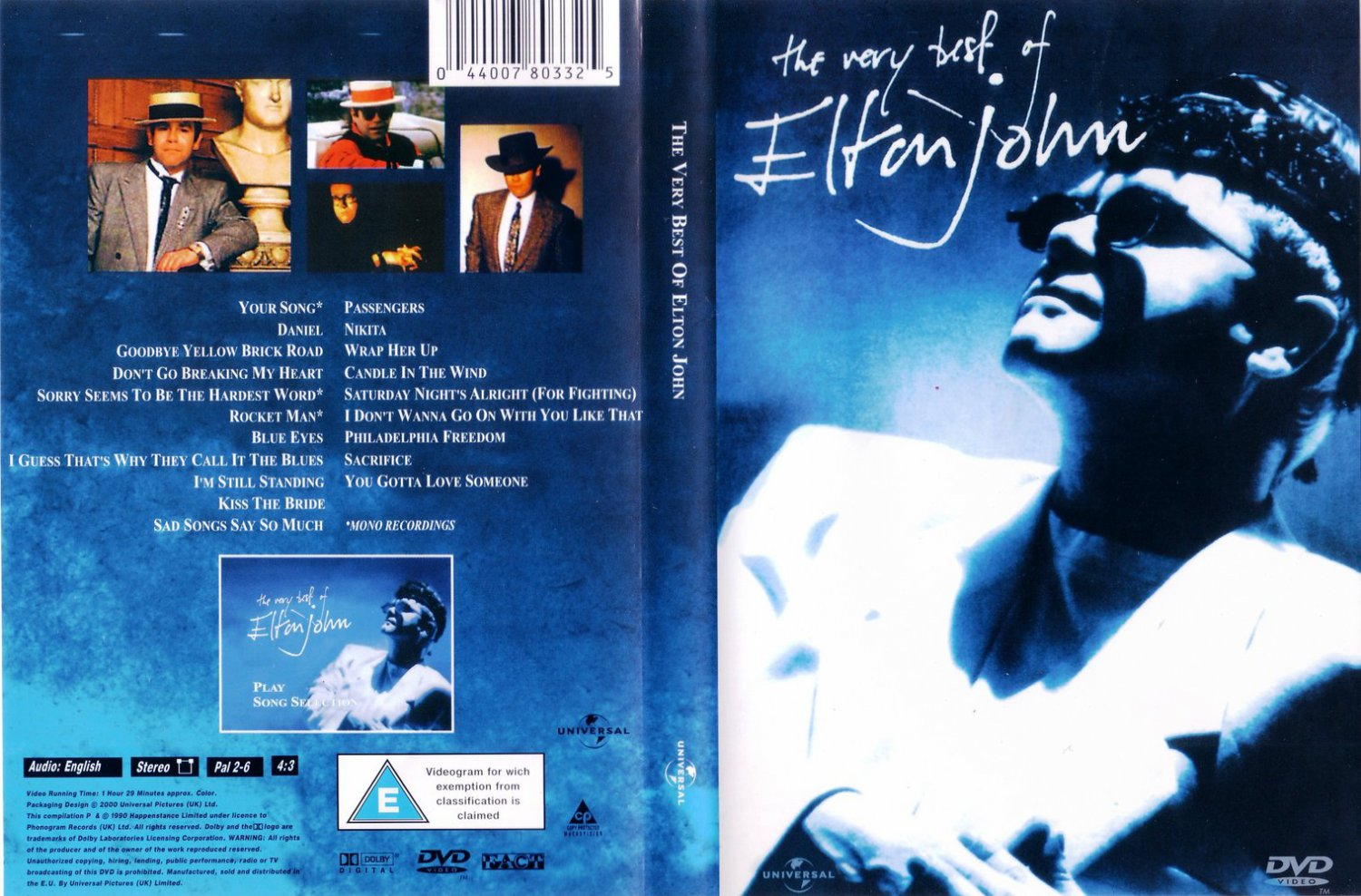 Elton John - The Very Best Of Elton John  DVD