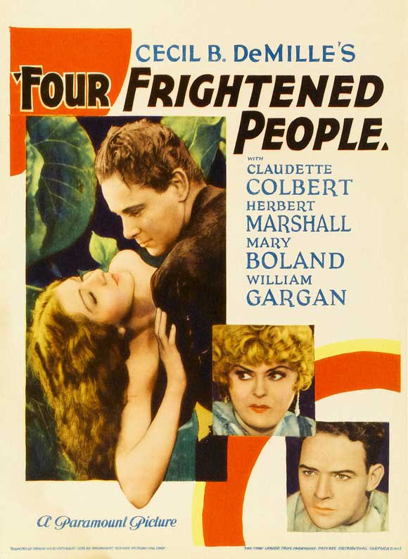 Four Frightened People (1934) - Claudette Colbert  DVD