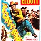 The Forty-Niners (1954) - Bill Elliott  DVD