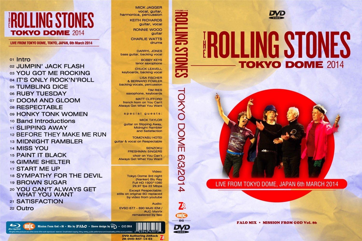Rolling Stones - Live At Tokyo Dome 6/3/2014  DVD