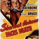 Sherlock Holmes : Faces Death (1943) - Basil Rathbone  DVD