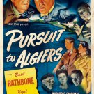 Sherlock Holmes : And The Pursuit To Algiers (1945) - Basil Rathbone  DVD