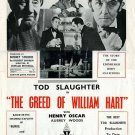 The Greed Of William Hart AKA Horror Maniacs (1948) - Tod Slaughter  DVD