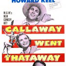 Callaway Went Thataway (1951) - Fred MacMurray  DVD