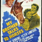 My Brother Talks To Horses (1947) - Peter Lawford  DVD