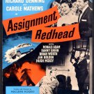 Assignment Redhead AKA Million Dollar Manhunt (1956) - Richard Denning  DVD