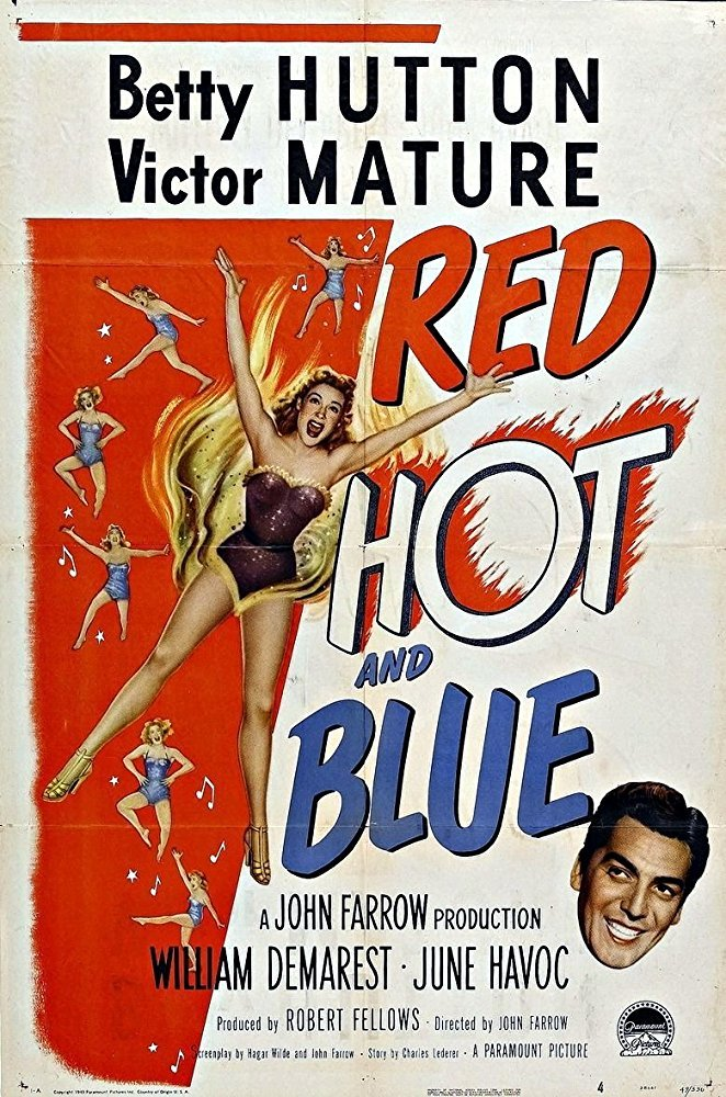 Red, Hot And Blue (1949) - Victor Mature  DVD